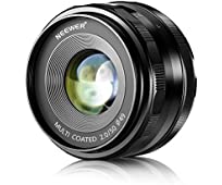 Neewer® 50mm f / 2.0 Manueller Fokus Prime fixierte Objektiv für OLMPUS und PANASONIC APS-C Digitalkameras , Wie OLYMPUS: E-M1 / M5 / M10, E-P5E-PL3 / PL5 / PL6 / PL7, PANASONIC: GM1 / 2, GX1 / 2/7/8, GF5 / 6/7