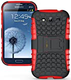 Heartly Armor Back Case For Samsung Galaxy Grand Duos I9082 / Galaxy Grand Neo Gt-I9060 / Galaxy Grand Neo Plus I9060I - Hot Red