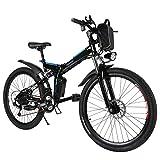 Tomasa Elektrofahrrad E-Bike Mountainbike Klapprad 20 inch/26 inch Faltend E-Bike mit 250W Hochgeschwindigkeits-Bürstenlose Motor und 36V Lithium-Akku(DE Lager) (Schwarz)
