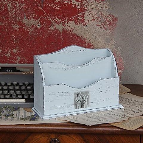 Vintage Schreibtischablage Briefablage Holzablage Ablage Landhaus Shabby