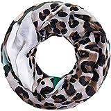 Faera Leoparden-Muster weicher und leichter Damen Sommer-Schal Loopschal Rundschal in verschiedenen Farben, SCHAL Farbe:Grün