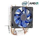MasterCOOLER Aria più Fresca 400 CPU, con Quattro Tubi di Calore, Ventola da 120mm PWM E Il LED, per La CPU Intel/AMD (AM4 Compatible) Blu