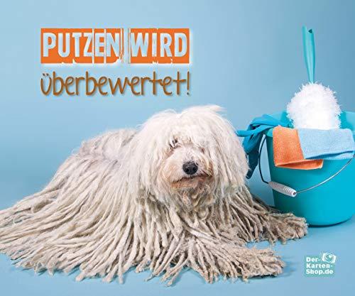 Brillenputztuch aus Mikrofaser mit witzigem Motiv mit Puli Hund: