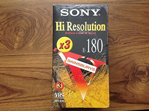 CINTA DE VÍDEO SONY E-180 VHS PACK DE 3 X1 ALTA RESOLUCIÓN 3 CINTAS DE 3 HORAS