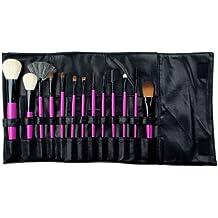 Royal & Langnickel - Set de 13 brochas con cerdas hechas de pelo natural y estuche enrollable sintético, de color rosa