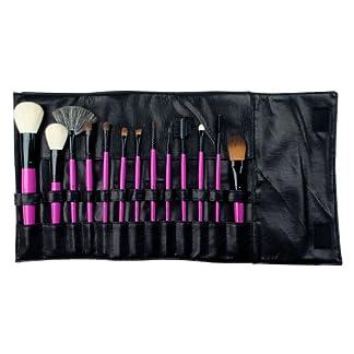 Royal & Langnickel – Set de 13 brochas con cerdas hechas de pelo natural y estuche enrollable sintético, de color rosa