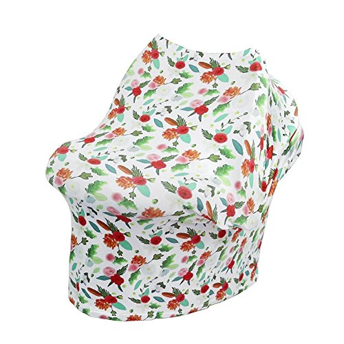 Chinatera Boy's Car Seat Cover Nursing Breastfeeding Cover Scarf Stroller Seat Canopy Multi Use Infinity Stretchy Shawl One Size Calla Lily