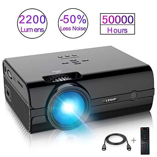 Mini Proyector, LESHP 2200 Lumen Multimedia Vídeo