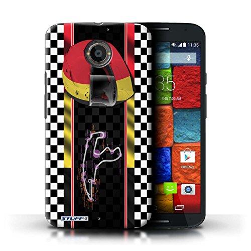 Kobalt® Imprimé Etui / Coque pour Motorola Moto X (2014) / Italie/Monza conception / Série F1 Piste Drapeau Belgique/Spa