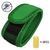 Vikoo Premium Mückenschutz abschreckendes Insekten-Armband mit 6 Nachfüllpackungen Kann am Arm oder Knöchel getragen werden Ohne Deet Spray (keine chemische Substanzen) Grün