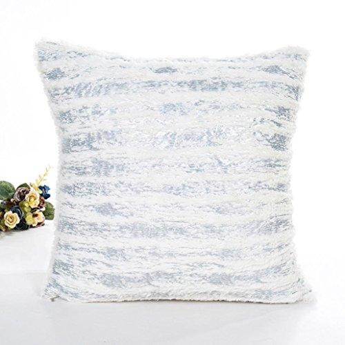 Indexp Crystal Plush Cushion Cover, Creative Room Sofa/Coffee Shop/Library/Book Store/Party/Club.Waist Throw Pillow Case (Silver, 45x45cm)