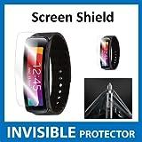 UNSICHTBARE Displayschutzfolie für Ihr Samsung Galaxy Gear Fit (Front) welche aus einem kratzfesten Material hergestellt wird