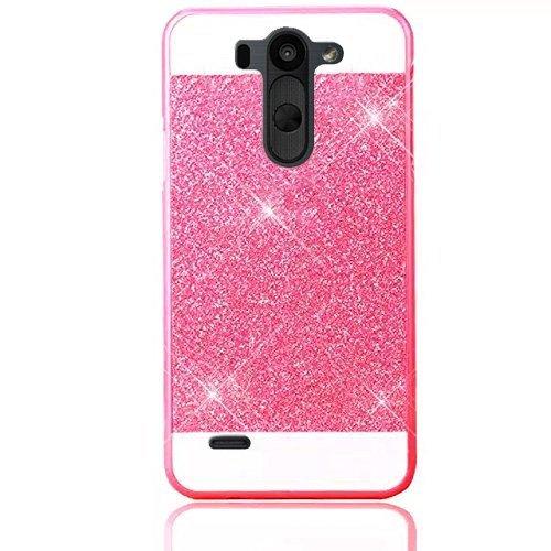 LG G3 Coque Gel TPU Silicone Etui Intégrale Transparent Case pour LG G3 Housse Protection Full Silicone Souple Case, Vandot LG G3 Ultra Mince Fine Slim Leger Tactile Deux Parties Avant Arrière Emboita Rose Rouge