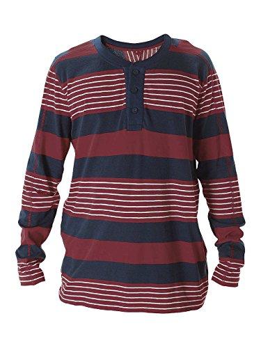 Herren Langarmshirt Nixon Boardwalk Henley T-Shirt LS steel blue multi