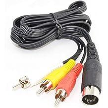 WiCareYo 1.8M 6ft Audio Video Cable AV 9 Pines para Genesis Mega Drive 2 y 3