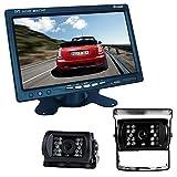 Buyee® Car Kit Rückansicht Rückfahrkamera Nachtsicht 2*18 IR LED Farbe Rückfahrkamera Rückfahrsystem KFZ+7 inch TFT LCD Monitor