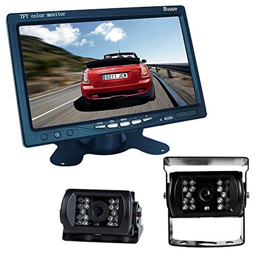 Buyee® Car Kit Rückansicht Rückfahrkamera Nachtsicht 2*18 IR LED Farbe Rückfahrkamera Rückfahrsystem KFZ+7 inch TFT LCD Monitor -