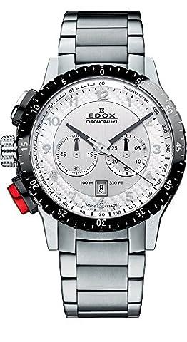 Edox Montre bracelet Mixte Edox Chrono Rally 1à quartz analogique en acier inoxydable 103053NRM à