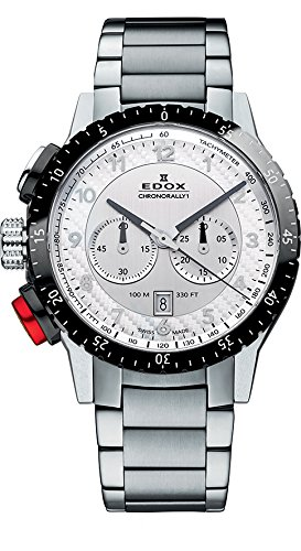Edox Unisex Analogue Quartz Watch with Stainless Steel Strap 10305 3NRM an
