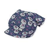 Sterntaler - Tuchmütze Kopftuch mit Schild Blumen Alloverprint, marine - 1451835, Größe 47