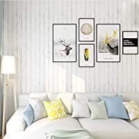 Homeme White Wood Contact Paper, 45 x 600cm Peel Stick Wallpaper Self Adhesive Wallpaper with PVC Waterproof Oil-Proof Removable for Walls Countertops Cabinet Bathroom Bedroom Furniture