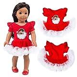 JIUZHOU Weihnachts-Kleid für 45,7 cm American Boy Puppe Zubehör Mädchen Spielzeug