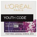 L'Oréal Paris Dermo-Expertise Youth Code Rejuvenating Anti-Falten Tagescreme (50 ml) - Packung mit 2