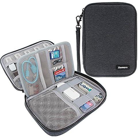 Damero USB Flash Drive Bolsa para tarjetas SD, la energía Banks, tarjetas de memoria / unidad Caso impermeable duro externo, Negro