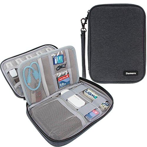 Damero Tasche für USB-Sticks und Speicherkarten, Aufbewahrungstasche Organiser Tasche für Zubehöre, Schwarz