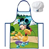 Disney Kids Mickey Mouse Apron + Hat Set (3 To 8 Years)