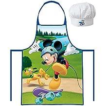Suncity MMO102553 Set Cocinero, Delantal y Gorro Cocina, Compuesto, Multicolor, 25x20x7 cm