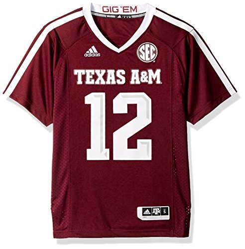 12 Football Ncaa (Texas A&M Aggies Adidas NCAA Men's #12 Premier Football Jersey Trikot - Maroon)