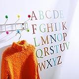 Wandtattoos Wandsticker für Kinder Motiv Alphabet Großbuchstaben, 26Aufkleber A-Z, Harlekin kunterbunt