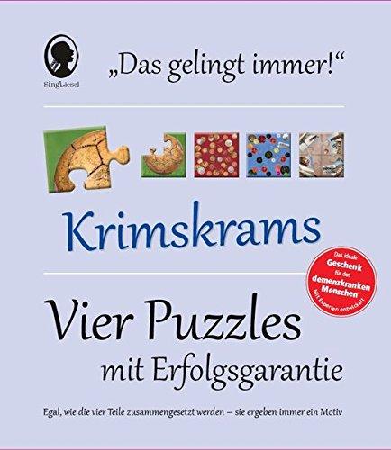 Das Gelingt-immer- Puzzle Krimskrams: Vier Puzzle mit Erfolgsgarantie - Egal, wie die vier Teile zusammengesetzt werden - sie ergeben immer ein Motiv