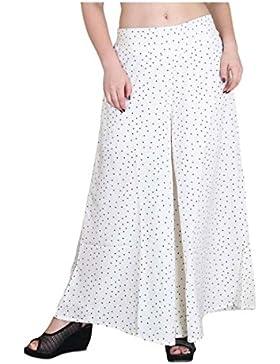 Indian Handicrfats Export Kannan Regular Fit Women's White Trousers