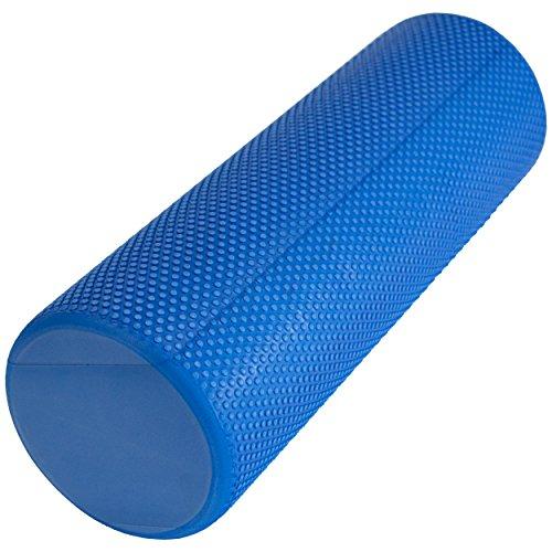 limberfit® Yoga Pilates Rolle blau | Die multifunktionale Schaumstoffrolle Gymnastikrolle zur Muskelkräftigung, Fitness und Massage der Faszien aus flexiblem Hartschaum (EVA), 45 x 15cm