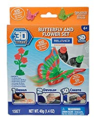 3D Maker Buterfly Flower Theme Pack, Multi Color