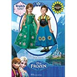 Simplicity Disney Frozen Fever Costumes For Children-3-4-5-6-7-8