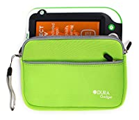 Durable Green Case For LeapFrog LeapPad Ultra | Leappad Platinum | LeapPad3x | LeapPad3 | LeapPad Ultra XDI | Leappad2 (Leappad 2) | Leappad Explorer (1) With Front Zip Pocket - by DURAGADGET