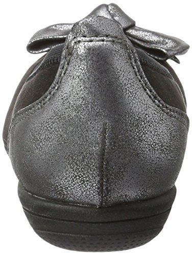 Softline Damen 22166 Geschlossene Ballerinas Schwarz (Black 001)