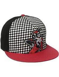 DC Comics Harley Quinn Checkered Print Snapback Casquette De Baseball