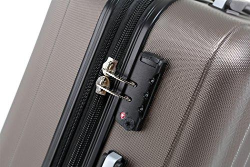 BEIBYE TSA-Schloß 2080 Hangepäck Zwillingsrollen neu Reisekoffer Koffer Trolley Hartschale Set-XL-L-M(Boardcase) in 12 Farben (Coffee, Set) - 2