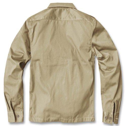 Chemise manches longues style uS, pour homme de la marque brandit b-4102 Beige