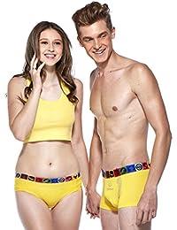 HÖTER® Pure Farbe Baumwolle Paar Liebhaber Unterwäsche Mens Boxer Frauen Brief