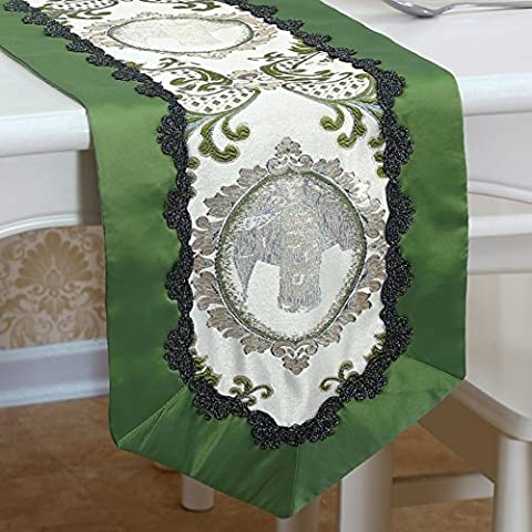 Modern fabric table flag/chinese nordic bed towel/simple table flag-C 180x30cm(71x12inch)