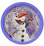 Wanduhr -  Disney die Eiskönigin - Frozen / Schneemann Olaf  - 25 cm groß - sehr leise ! - Uhr - Analog - Wohnzimmer & Kinderzimmer - für Jungen Mädchen Kin..