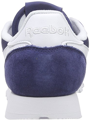 Reebok Classic Leather Is, Chaussures de Course Garçon Bleu - Blau (Midnight Blue/White)