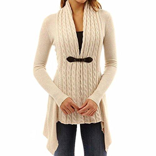 Baumwolle / Cashmere-kapuzen-pullover (TWIFER Damen Frauen Langarm Pullover Lässige Strickjacke Outwear Kimono (S, khaki))