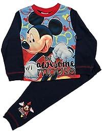 Disney Boys Mickey Mouse Pyjamas PJS Sleepwear Ages 1 To 4 Years