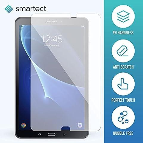 smartect® Panzerglas Displayschutzfolie für Samsung Galaxy Tab A 2016 10.1 (T580) aus gehärtetem Tempered Glass • Gorilla Glass mit Härtegrad 9h • 0,33mm Ultra-Dünn • Abgerundete Kanten (2.5D) • Anti